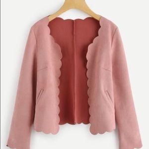 Jackets & Blazers - NWT Scalloped Edges Blush Leather jacket